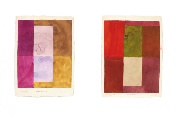 Indian Journey_ Subject - Object, I, II | watercolour on hand-made paper | 56 x 76.5 cm